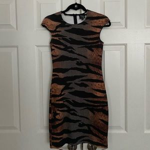 McQ by Alexander McQueen Tiger Print Dress- Size S